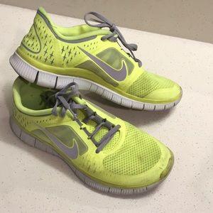 b3e43e76ce1b4 Women Nike Neon Yellow Running Shoes on Poshmark
